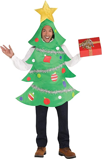 Amazon Com Amscan Amsdd Adults Christmas Tree Costume 1 Pc Standard Toys Games