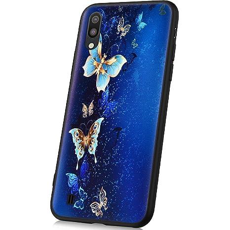 JAWSEU Funda Compatible con Samsung Galaxy M10, Suave TPU Silicona Gel Goma Bumper Funda con
