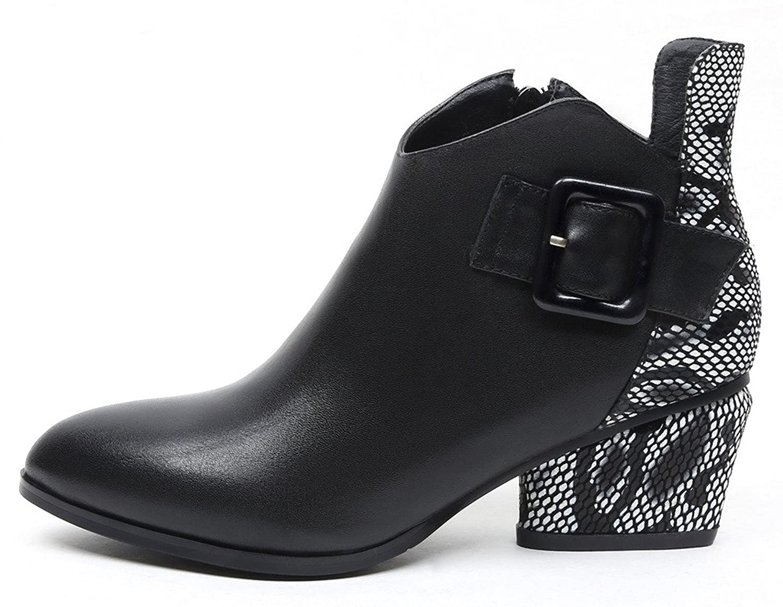 ELEHOT Womens Elechance 6CM mid-heel Boots