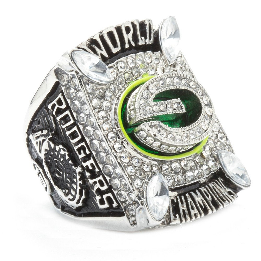 HTEGAE Men's 2010 Year Green Bay Packers Team Championship Rings,Size 8