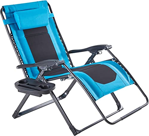 VICLLAX Oversized Padded Zero Gravity Chair XXL Folding Patio Lounge Recliner - the best outdoor recliner for the money