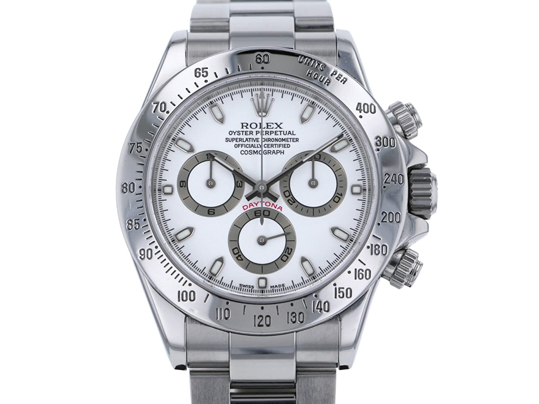 ロレックス ROLEX デイトナ 116520 ホワイト文字盤 メンズ 腕時計 中古 B00NAXT4XI