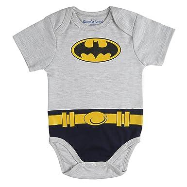 db5b86ad LK Vyapaar Batman Print Grey Onesies Bodysuit Romper for Boys Girls Size -  S 0-