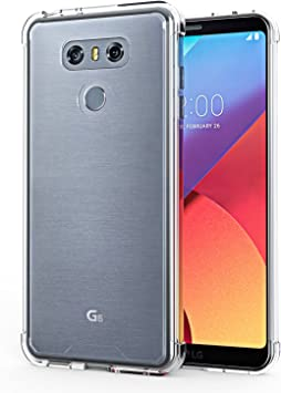 Funda LG G6,OMOTON Carcasa LG G6 Case,Suave TPU y Transparencia PC ...
