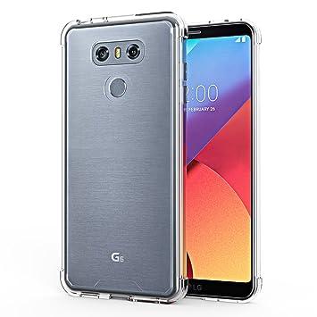 OMOTON Funda LG G6, Carcasa LG G6 Case,Suave TPU y Transparencia PC,Alta Defensa,Compacta Carcasa,Transparencia