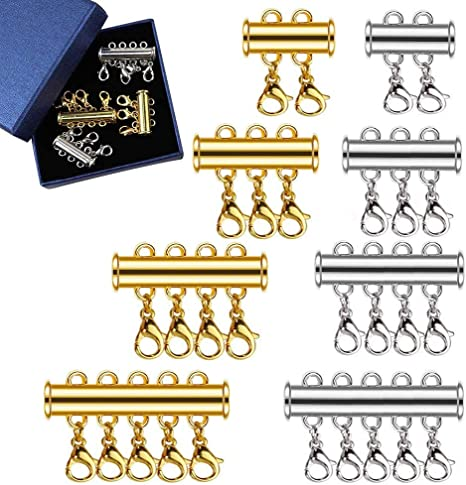 4-Strand Clasp Magnetic Slide Lock Gold Plated Jewelry Supplies