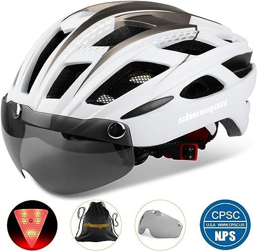 71PEmWNh%2BEL. AC SL520  - Shinmax Fahrradhelm,CE-Zertifikat,Fahrradhelm mit Abnehmbarer Schutzbrille Visier für Herren Damen Erwachsene Radhelm Einstellbarer...