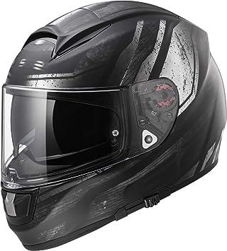 LS2 Casco Ff397 Vector Ft2 Razor para moto, color negro mate, talla XXL