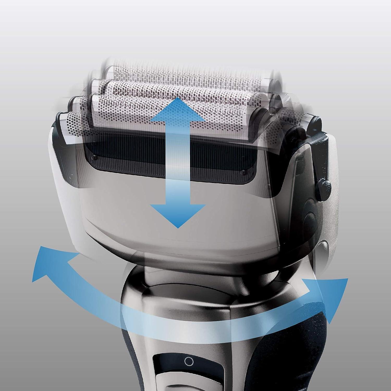 Panasonic ES-RW33-H503 - Afeitadora y recortadora para hombre (2 en 1, hojas precisión nanométrica, cabezal giratorio flexible, lavable, hojas dobles, luz de carga, funda de viaje) gris: Amazon.es: Salud y cuidado personal