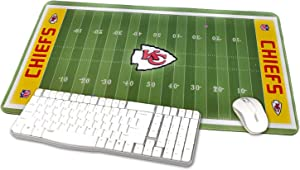 """TRIPRO Football Field Design Large Gaming Mouse Pad XXL Extended Mat Desk Pad Mousepad,Size 23.6""""x11.8"""",Water-Resistant,Non-Slip Base for Chiefs Fans Gifts"""
