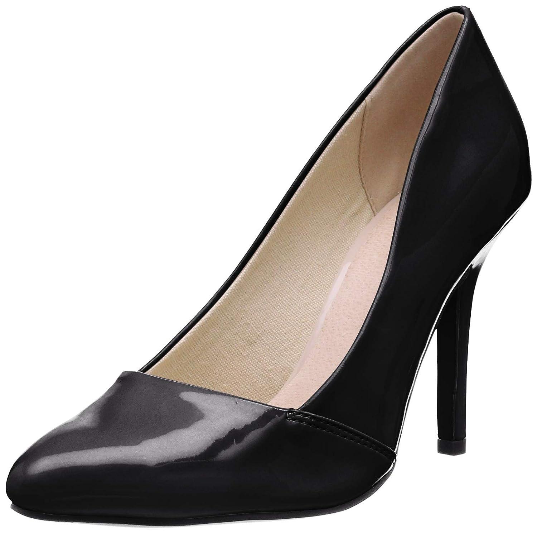 TALLA 38 EU. Bianco Loafer Pump 100, Zapatos de tacón con Punta Cerrada para Mujer