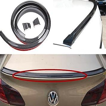 4.9ft//1.5M Carbon Fiber Car Rear Roof Trunk Spoiler Wing Lip Sticker Body Kits