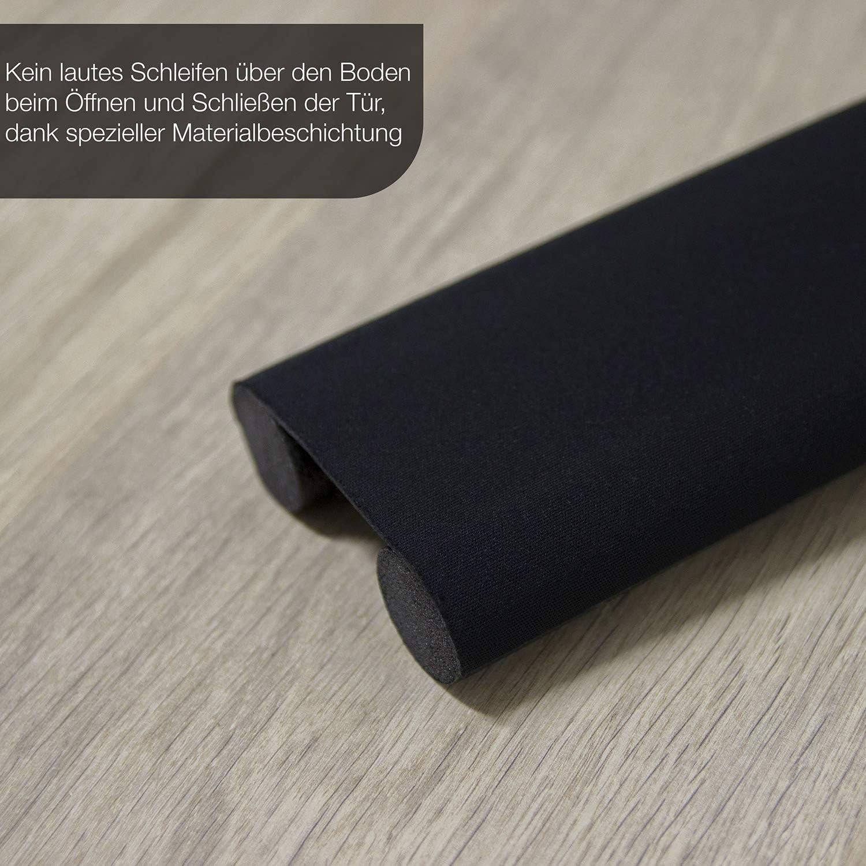 zuschneidbare T/ürbodendichtung Urhome 3 x Zugluftstopper f/ür T/üren in Wei/ß Schutz vor L/ärm und Zugluft L/änge 92 cm doppelseitige T/ürisolierung