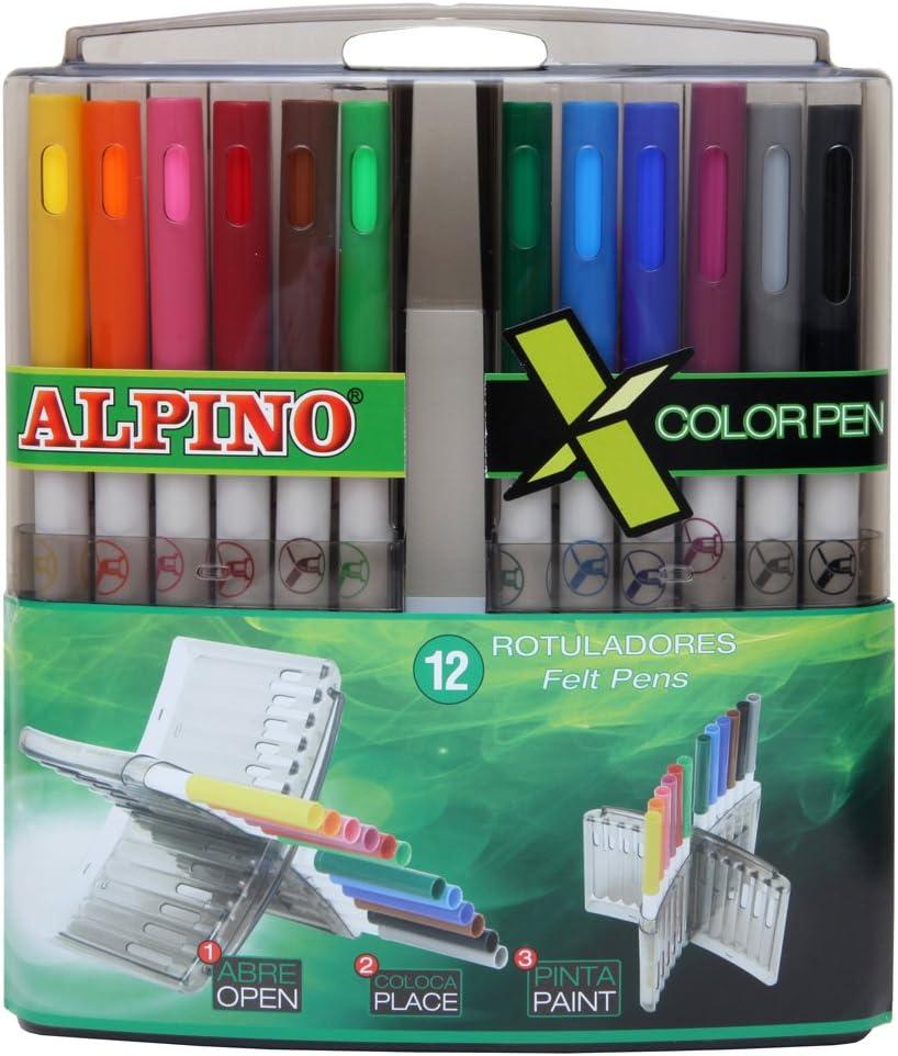 Alpino AR000135 - Estuche de 12 rotuladores, colores surtidos: Amazon.es: Oficina y papelería