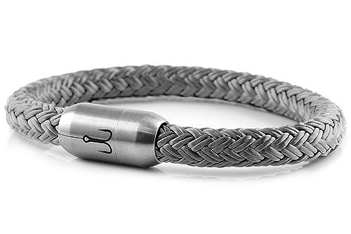 Fischers Fritze Segeltau Armband Makrele 2 0 Silbergrau 19 0