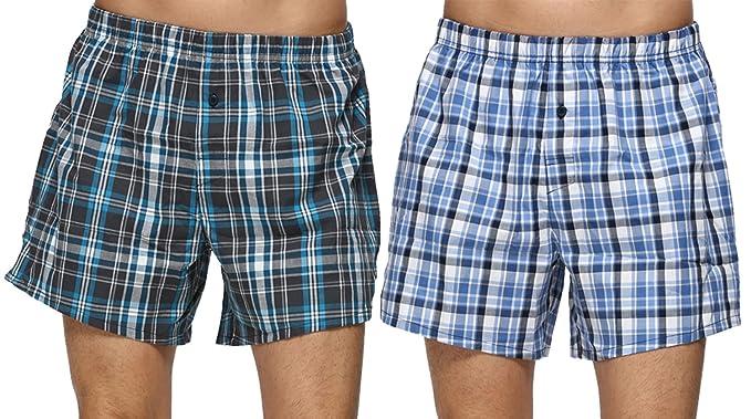 d367458b758d1e Image Unavailable. Image not available for. Colour: John&Elaine Mens 100% Cotton  Boxer Loose Fit Shorts Soft ...