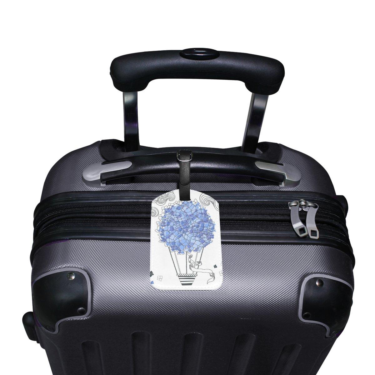 Saobao Travel Luggage Tag Blue Hot Balloon PU Leather Baggage Travel ID