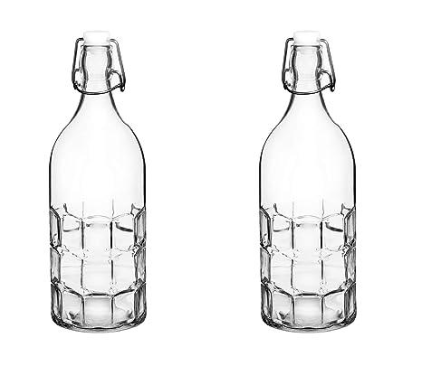 Amazon.com: Coloridas botellas de agua de vidrio ...