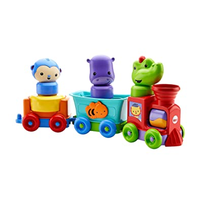 Fisher-Price Silly Safari Rattle & Roll Animal Train, Multicolor: Toys & Games
