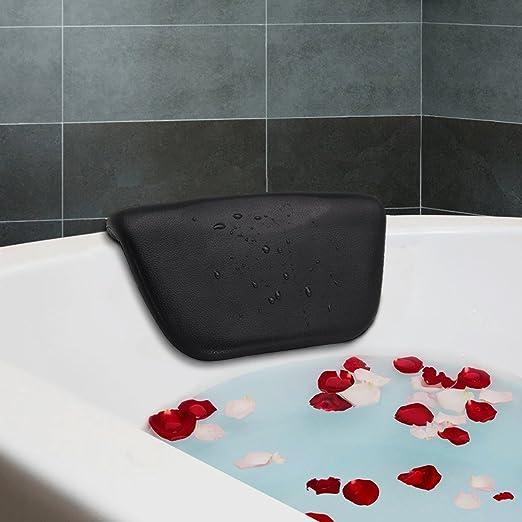 Essort Spa Baño almohada, sintética cojín de baño antideslizante con ventosas, ergonómico para reposacabezas de casa Spa Relajante cabeza, cuello, ...