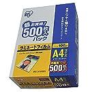 アイリスオーヤマ ラミネートフィルム 100μm A4 サイズ 500枚 LZ-A4500