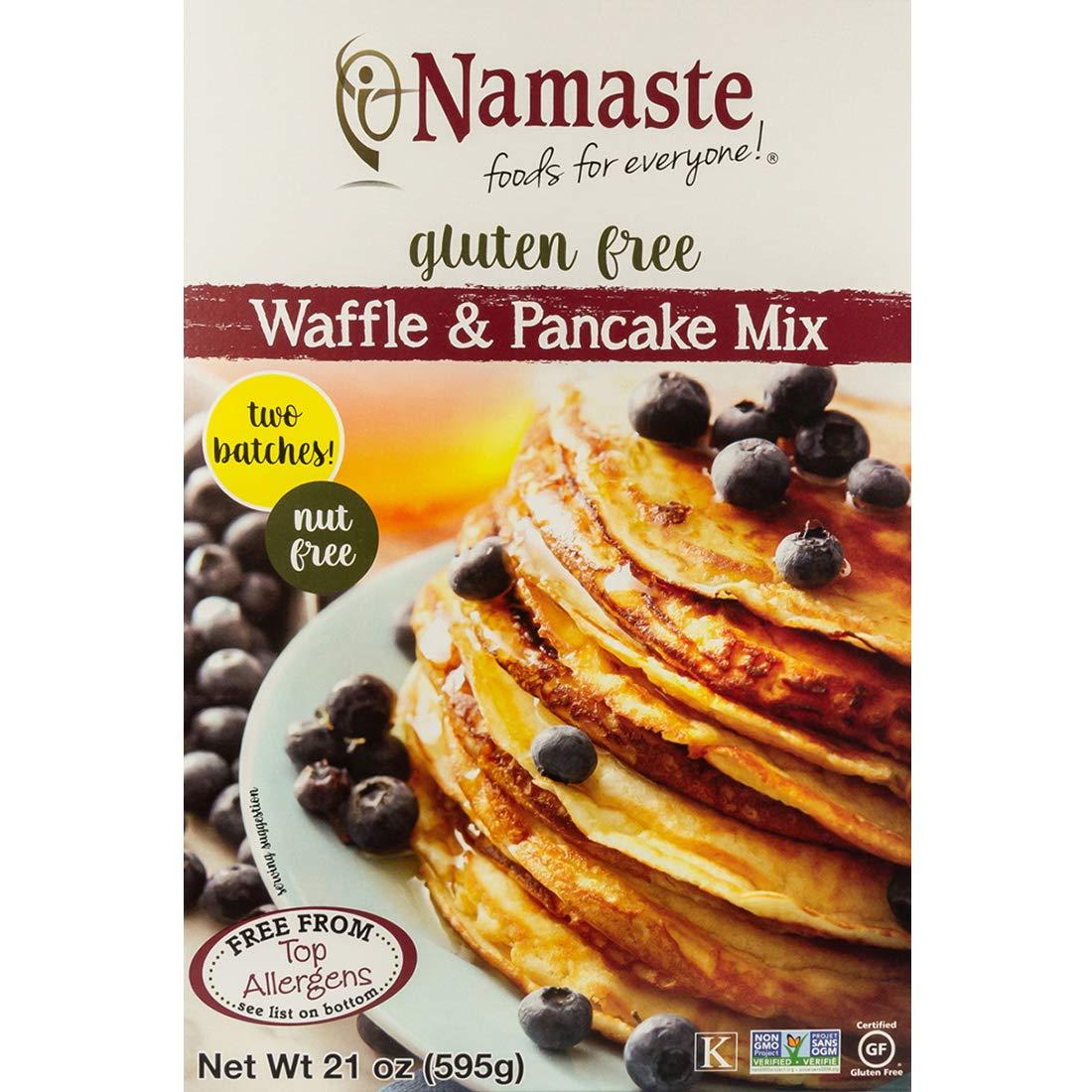 Namaste Foods Gluten Free Waffle & Pancake Mix, 21 Oz