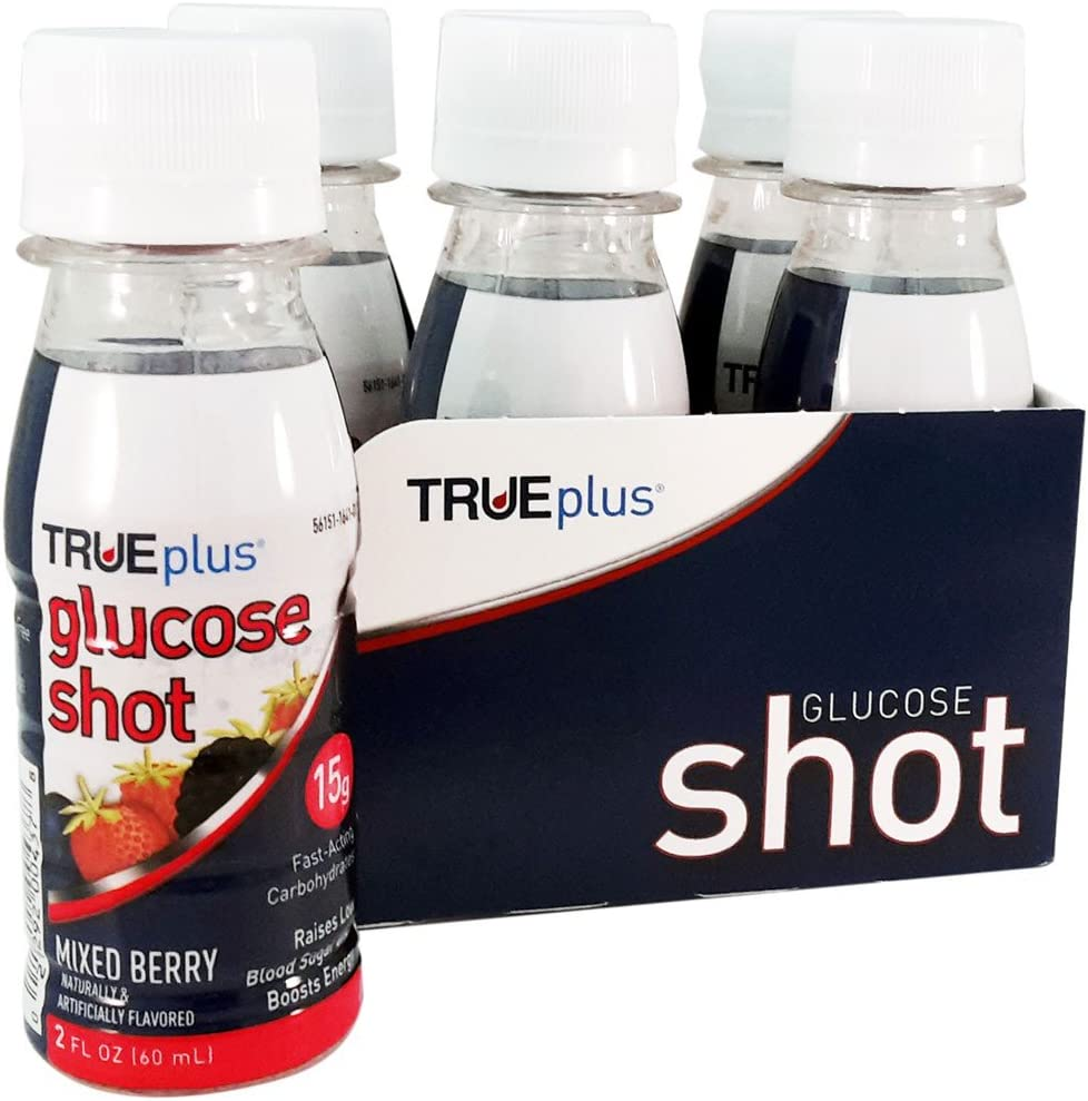 TRUEplus Glucose Shot 6-pack – Mixed Berry
