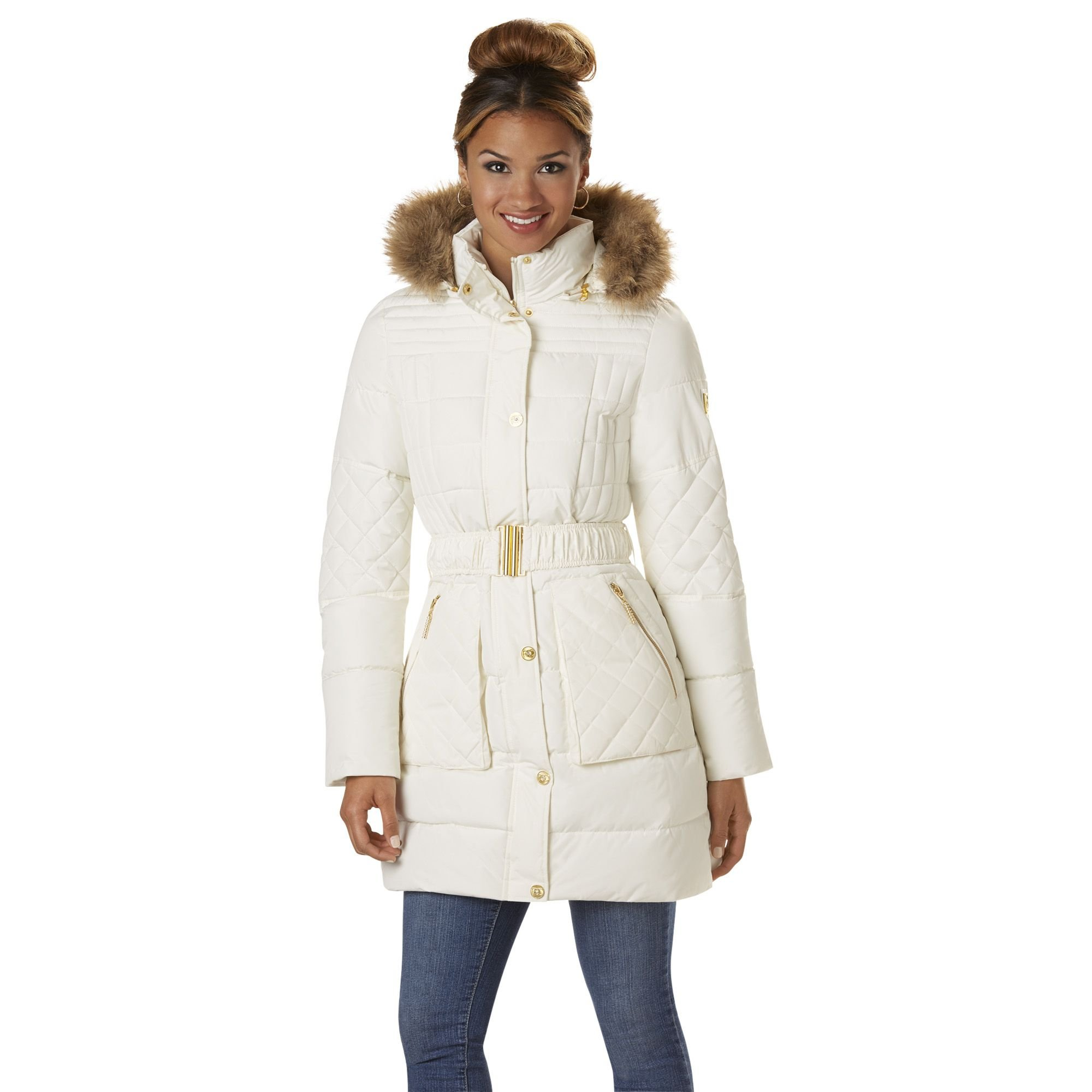 Rocawear Misses' Quilted Puffer w/ Belt