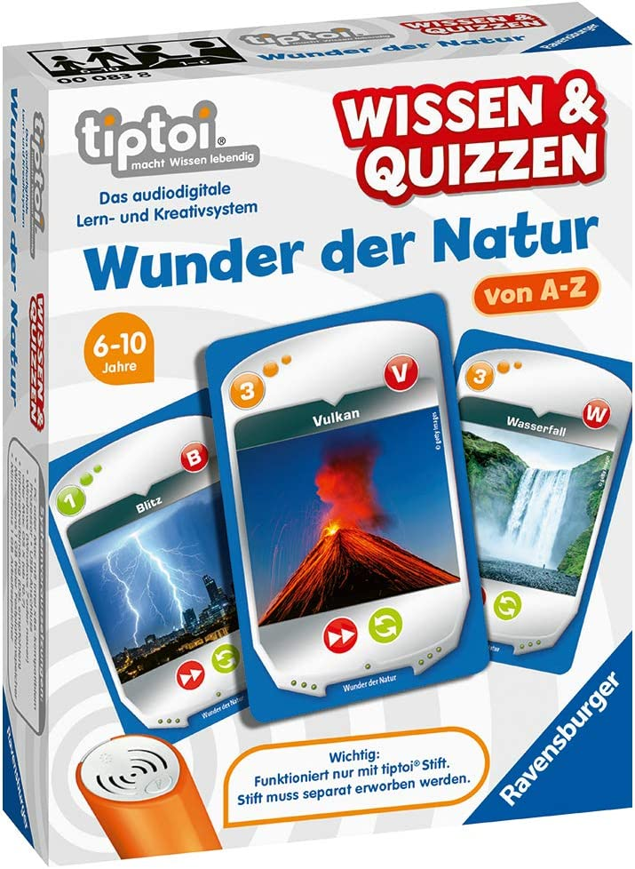 Quizspiel f/ür Kinder ab 6 Jahren Wunder der Natur f/ür 1-6 Spieler Ravensburger tiptoi 00083 Wissen und Quizzen