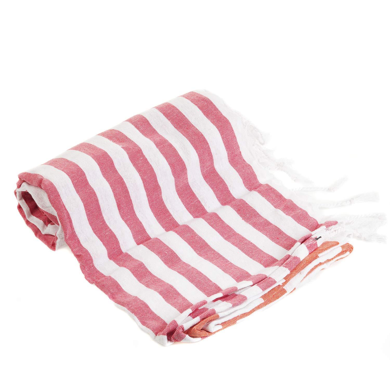 Gute (Set of 6) XXL Turkish Cotton Bath Beach Hammam Turkish Towel Sets Peshtemal Throw Fouta Blanket Set, Luxuries Towels by Gute (Image #7)