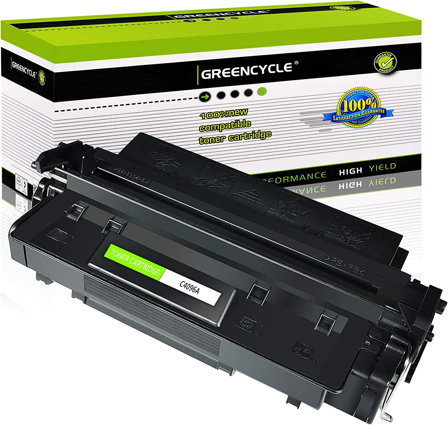 GREENCYCLE C4096A Laserjet Toner Cartridge Replacement Compatible For HP 96A LaserJet 2100 2100m 2100se 2100tn 2100xi 2200 2200d 2200dn 2200dse 2200dt 2200dtn Printers (1 Black)