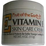 Fruit of the Earth Vitamin E Skin Care Cream 4 oz Cream