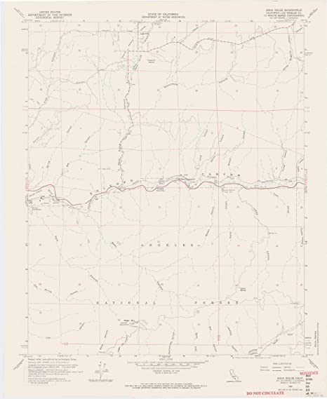 Agua Dulce California Map.Amazon Com Yellowmaps Agua Dulce Ca Topo Map 1 24000 Scale 7 5 X