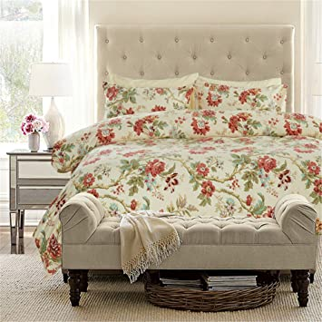 Dodou Unique America Country Style Bettbezug Set Floral BettenSet Stunning Interior Design Country Style Set