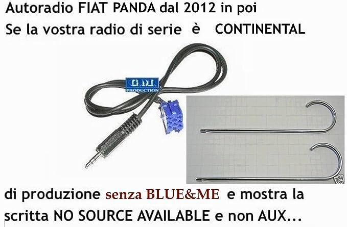 17 opinioni per G.M. Production- 191EVO + 326K- Cavo Aux Audio IN MP3 iPhone FIAT PANDA dal 2012