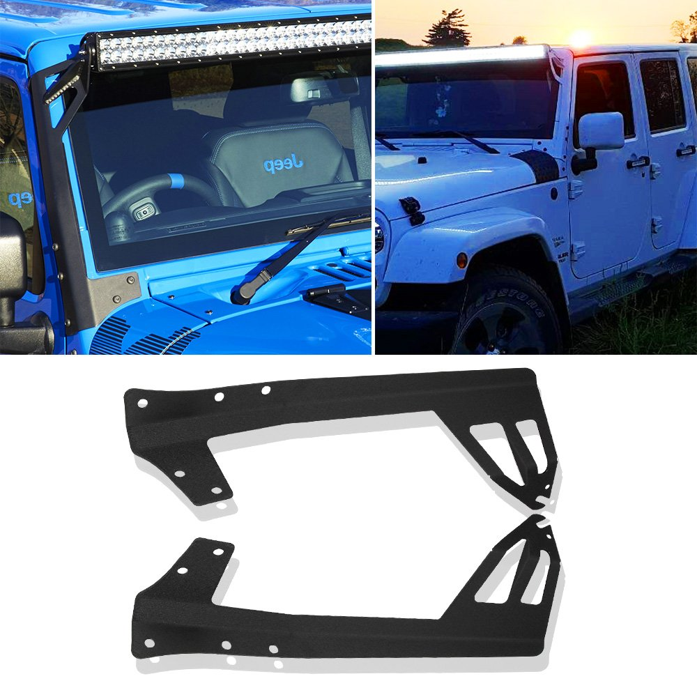 07 15 Jeep Wrangler Jk Windshield Mounting Brackets For 50