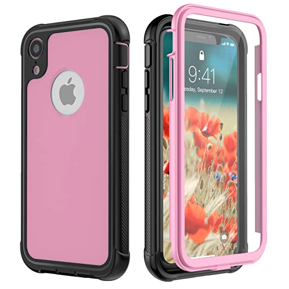 quality design 1a074 f2c2f Amazon.com: iPhone XR Case, SNOWFOX 360 Degree Premium Hybrid ...