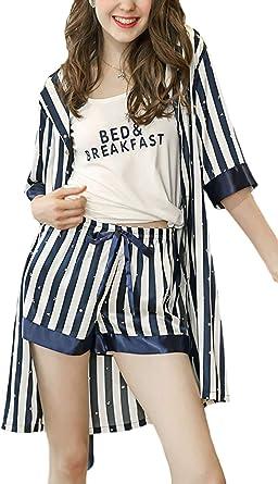 Pijama -Set Mujer Verano Moda rno Flecos Pijamas Mujer ...
