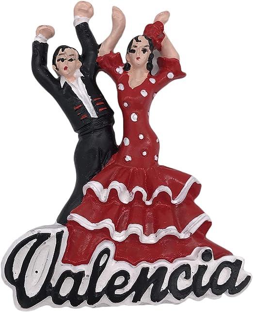 3D Valencia España Dancer Imán de nevera para recuerdos de turismo ...
