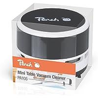 Peach PA105 Mini Staubsauger | 1 Stück | batteriebetrieben (2x AA) | hohe Saugkraft | schwarz, hellblau, rosa oder pastellgelb