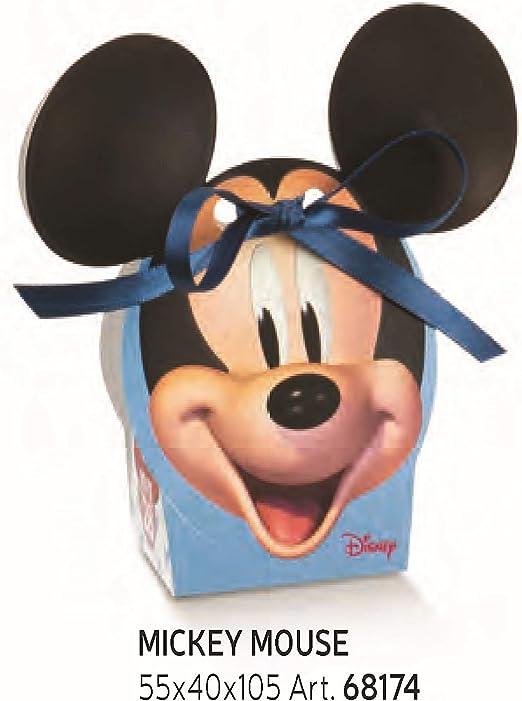 Formoso - Caja para peladillas, diseño de Mickey Mouse de Disney, Color Celeste, 5,5 x 4 x 10,5 cm, Juego de 10 Unidades, Art. 68174: Amazon.es: Hogar