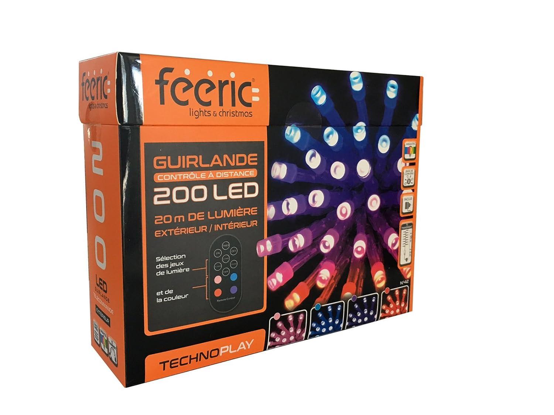 Déco No l Guirlande lumineuse 200 LED 20 m de lumi¨re avec