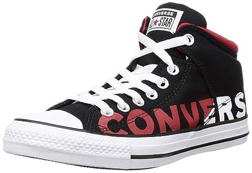 infierno S t Querer  Buy Converse Men's Black/White/Enamel RED Sneakers - 6 UK (39 EU) (165433C)  at Amazon.in