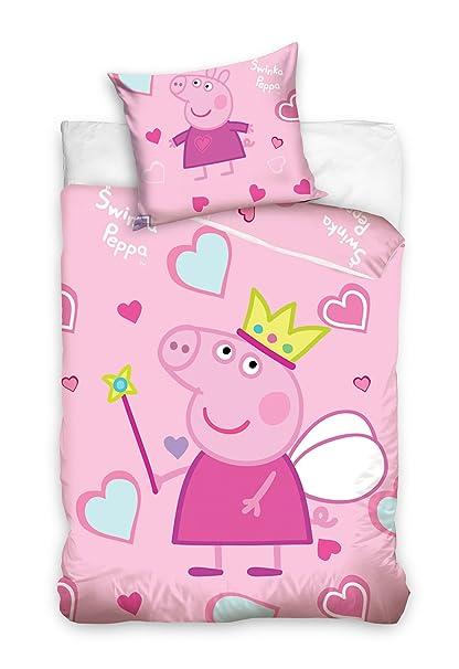 more photos 8bf80 24773 Peppa Pig Toddler Cot Bed 100 x 135cm Duvet Cover Kids Children's Bedding  Set 100% Cotton Pink