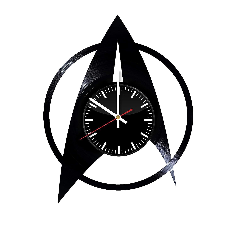 Amazon Com Starship Vinyl Clock Star Trek Wall Clock Star Trek Wall Art Star Trek Vintage Clock Star Trek Handmade Clock Star Trek Home Decor Accessories Handmade