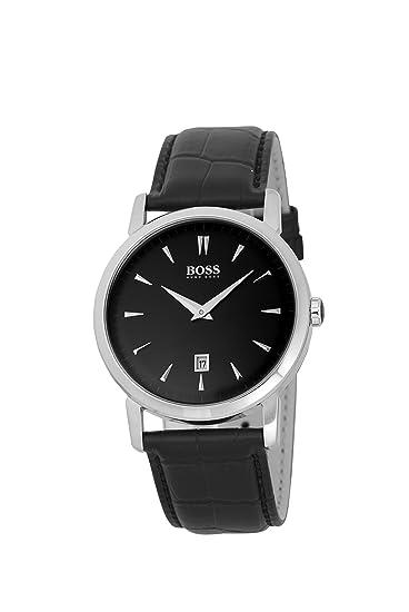 Hugo Boss 1512637 - Reloj analógico de cuarzo para hombre con correa de piel, color negro: Amazon.es: Relojes