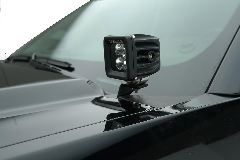 ZROADZ Z365601 Black Hood Hinges A-Pillar LED Mount 2010-2014 FORD F150-RAPTOR
