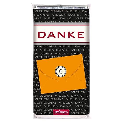 Schokolade Geldgeschenk Danke Steinbeck Vollmilch 100g Schokolade