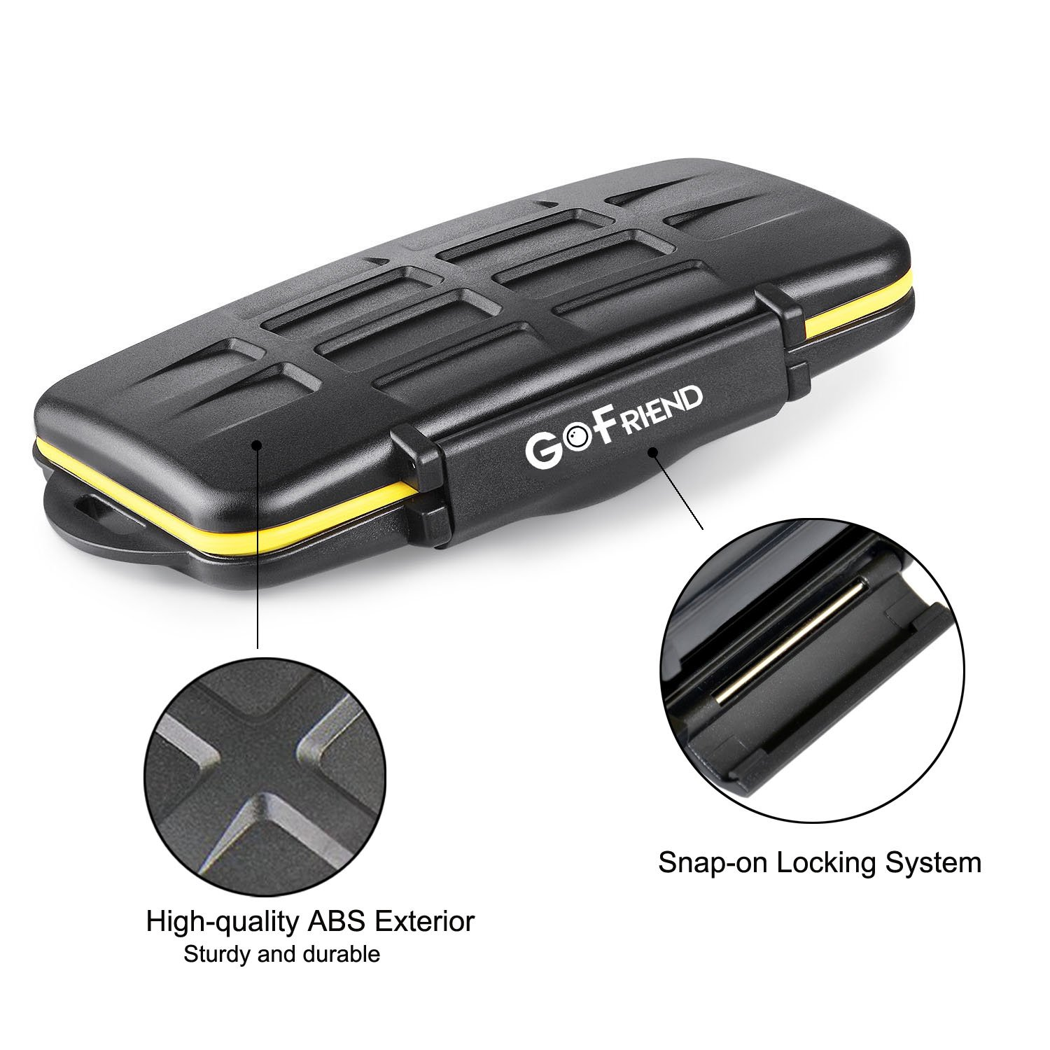 GoFriend Water-Resistant 24 Slots Memory Card Carrying Cases Professional Anti-shock Holder Storage SD SDHC SDXC and Micro SD TF Cards Protector Cover With Carabiner & Card Reader by GoFriend (Image #4)