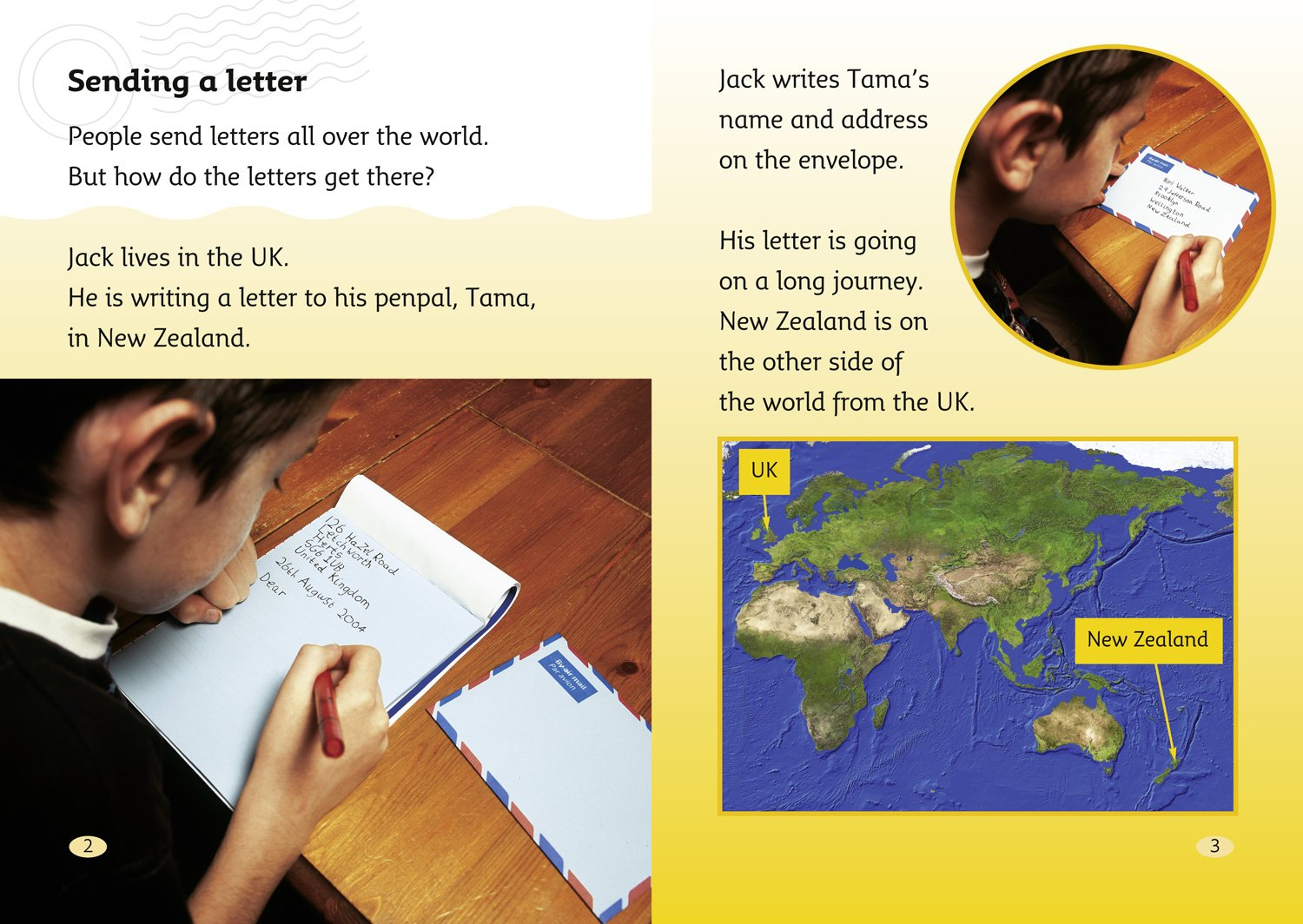 How To Address Mail? A Letter To New Zealand (collins Big Cat):